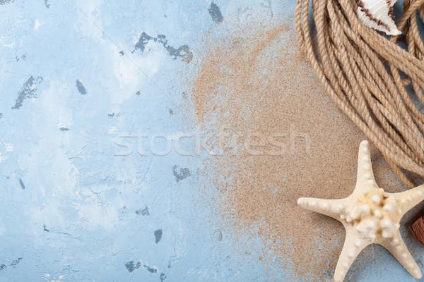 Viaje playa vacaciones mar conchas estrellas de mar Foto stock © karandaev