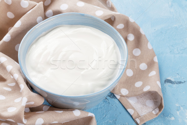 Sour cream. Dairy products Stock photo © karandaev