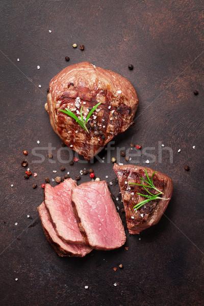 Grilled fillet steak Stock photo © karandaev