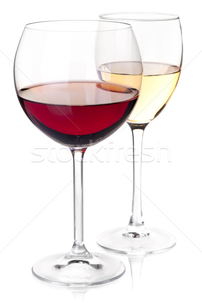 Wine collection - Red and white wine in glasses Stock photo © karandaev