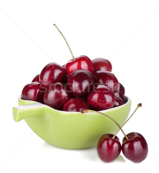 Ripe cherries in a bowl Stock photo © karandaev