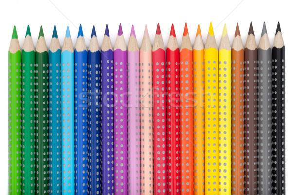 Сток-фото: различный · красочный · карандашей · изолированный · белый · древесины