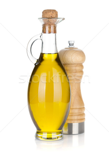 Olive oil bottle and pepper shaker Stock photo © karandaev