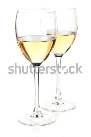 Two white wine glasses Stock photo © karandaev