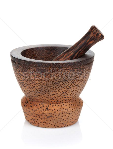Сток-фото: изолированный · белый · продовольствие · древесины · медицина · приготовления