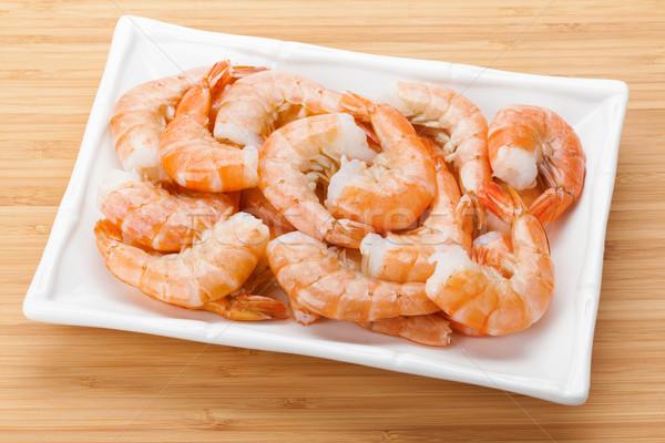 Cooked shrimps Stock photo © karandaev