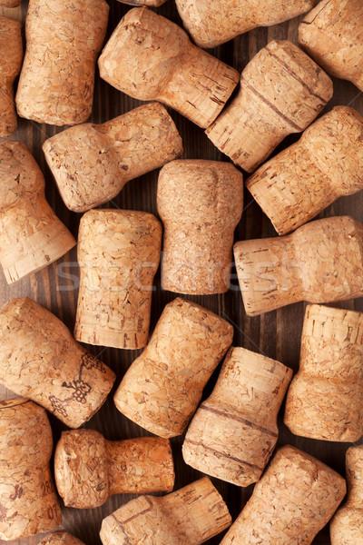 Foto stock: Champanhe · vinho · textura · tabela · grupo · padrão