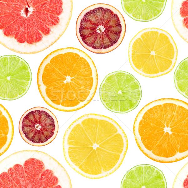 Citrus naadloos grapefruit oranje citroen kalk Stockfoto © karandaev