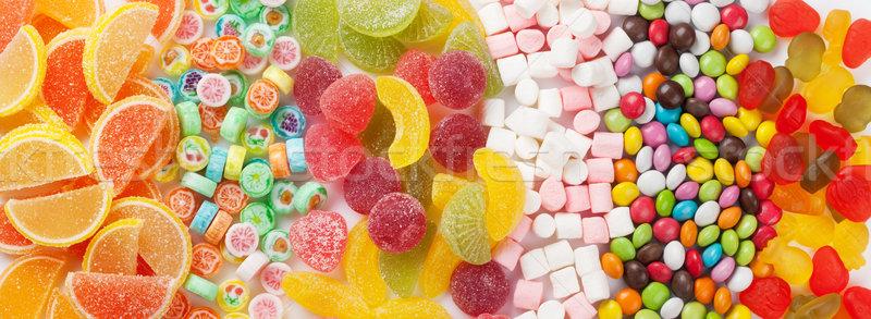 Színes cukorkák zselé születésnap háttér csoport Stock fotó © karandaev