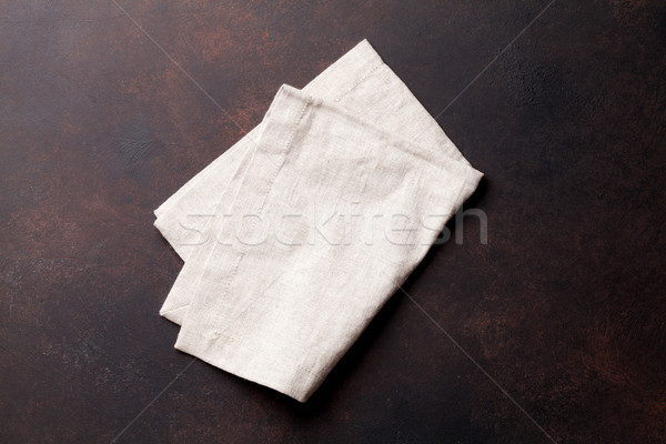 Kitchen table with towel Stock photo © karandaev