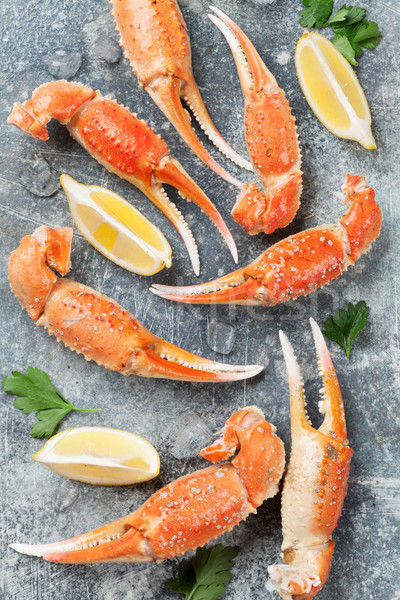 Fruits de mer homard haut vue pierre table Photo stock © karandaev
