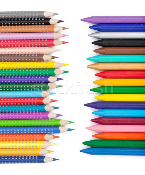 色 鉛筆 孤立した 白 木材 ストックフォト © karandaev