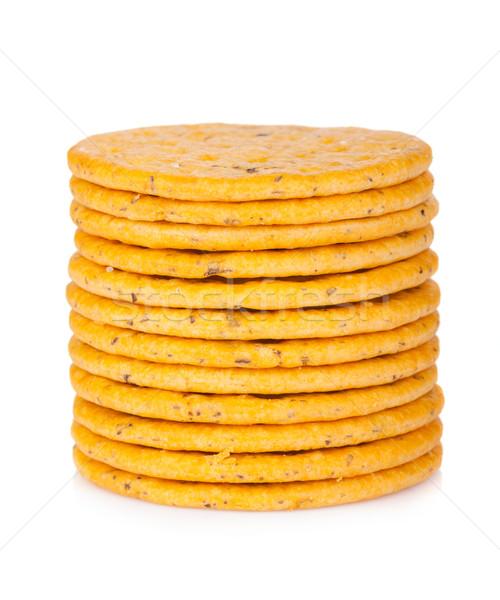 Stack of crackers Stock photo © karandaev