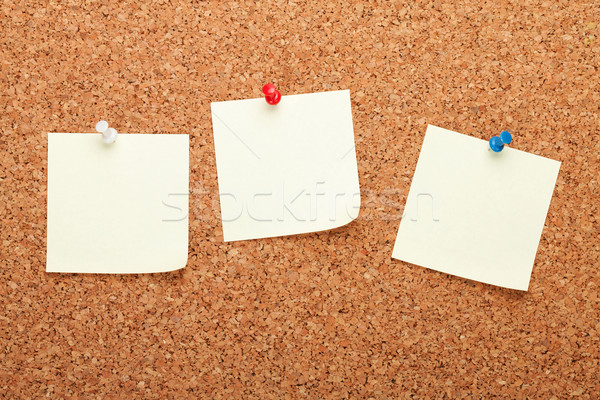 Jegyzetek dugó hirdetőtábla fa szín információ Stock fotó © karandaev