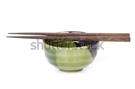 Sushi chopsticks and bowl Stock photo © karandaev