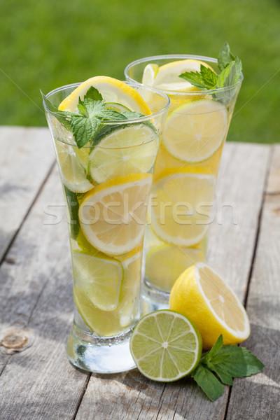Eigengemaakt limonade vers vruchten zomer ijs Stockfoto © karandaev