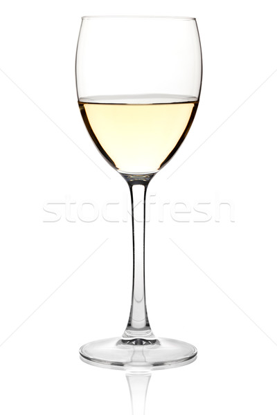 White wine in a glass Stock photo © karandaev