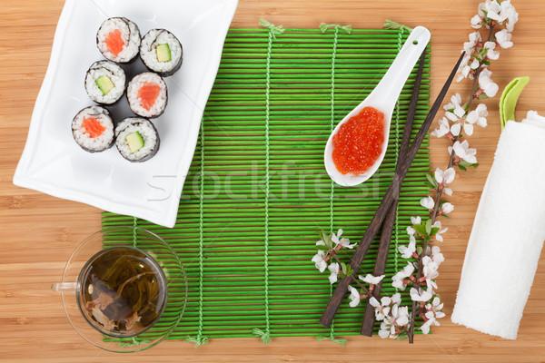 赤 キャビア 寿司 セット 桜 支店 ストックフォト © karandaev