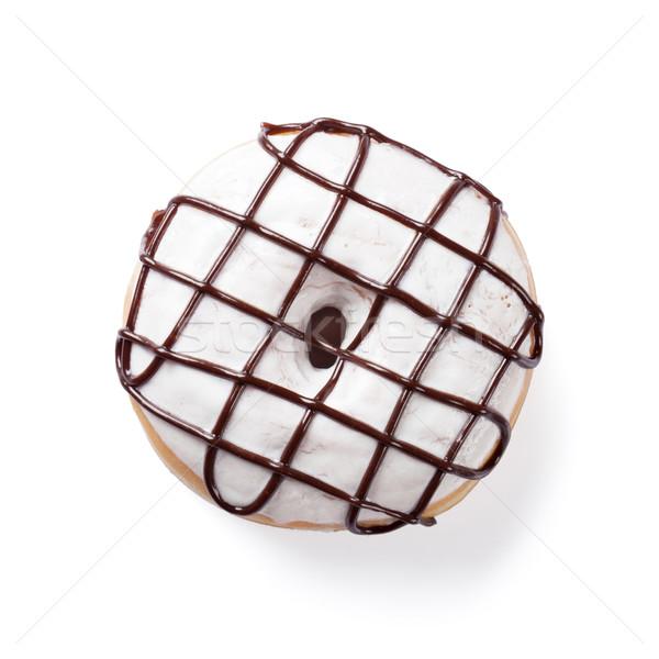 Buñuelo chocolate decoración aislado blanco alimentos Foto stock © karandaev