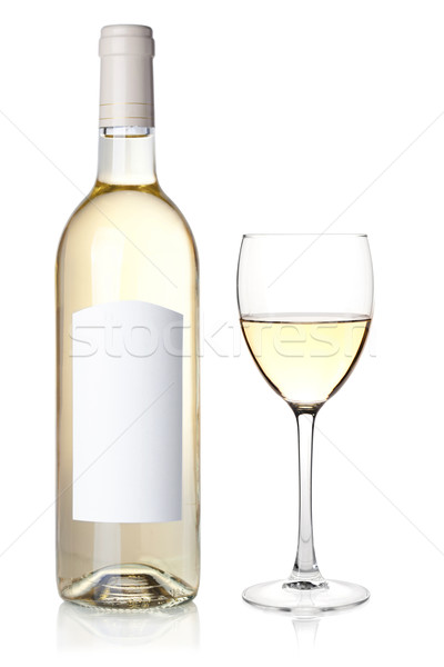 White wine in bottle and glass Stock photo © karandaev