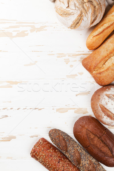 Stock photo: Various crusty bread and buns