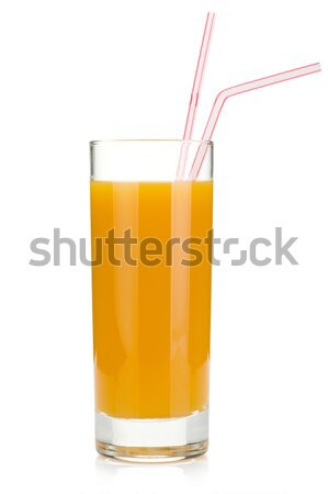 Peach juice in a glass Stock photo © karandaev