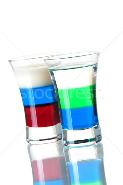 Shot cocktail collection: Anabolic and Russian Flag Stock photo © karandaev