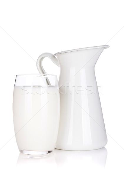 Tejesflakon üveg izolált fehér eszik életstílus Stock fotó © karandaev