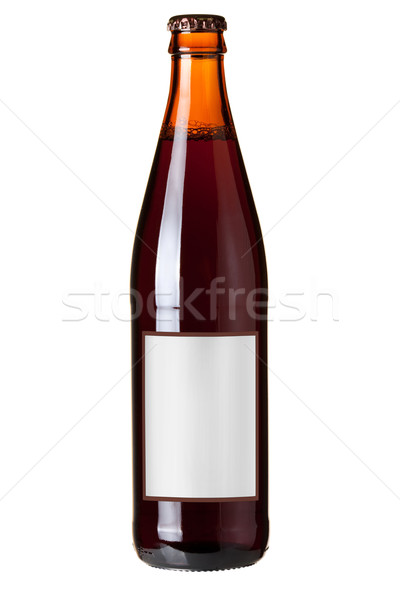 Dark beer in bottle with blank label Stock photo © karandaev