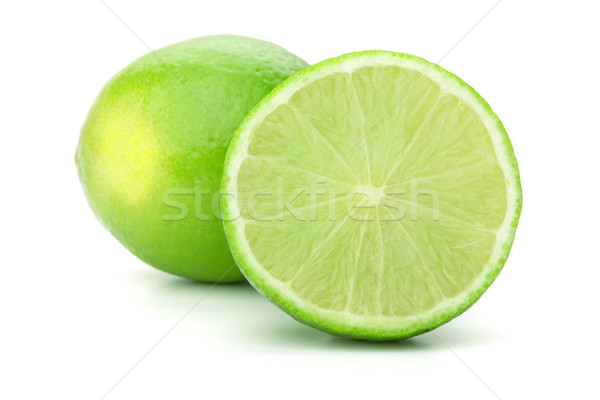 Whole and half lime Stock photo © karandaev
