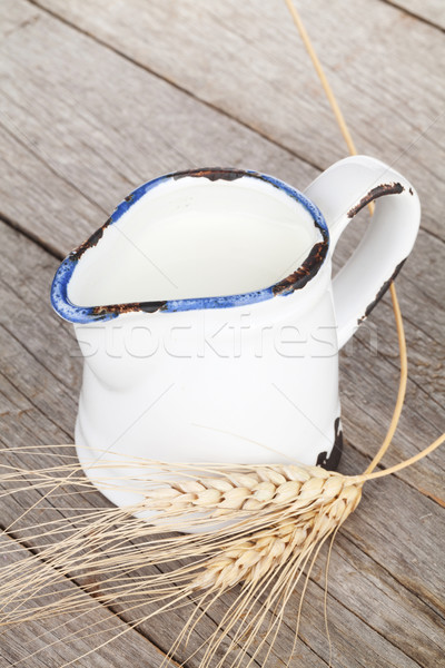 Milk jug Stock photo © karandaev