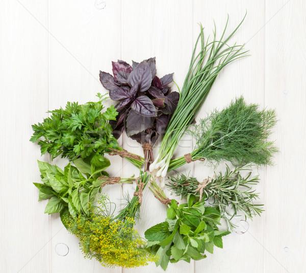 Fresh garden herbs Stock photo © karandaev