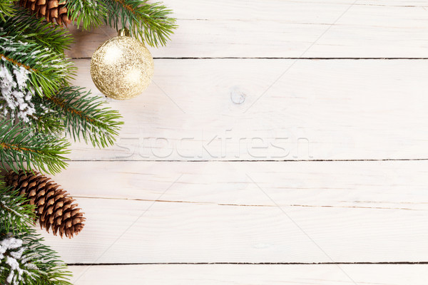 Christmas background with pine tree Stock photo © karandaev