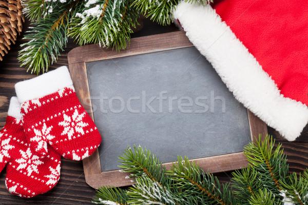 Stock foto: Weihnachten · Tafel · Dekor · hat