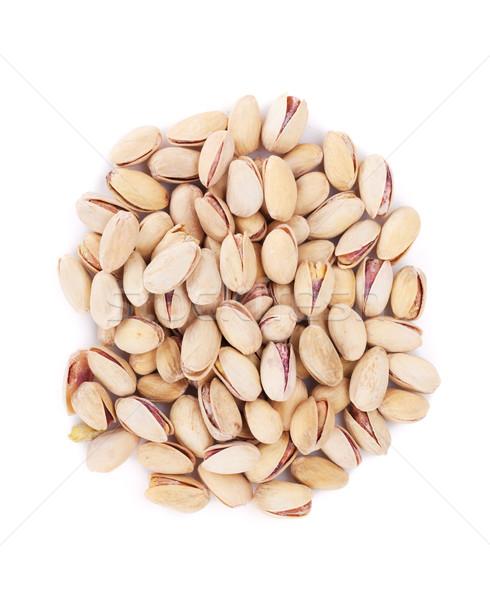 Сток-фото: орехи · изолированный · белый · продовольствие · семени · гайка