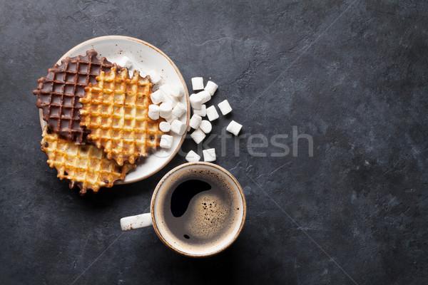 кофе Top мнение копия пространства продовольствие фон Сток-фото © karandaev