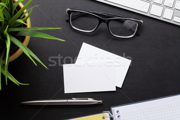 Blank business cards. With space for your text Stock photo © karandaev