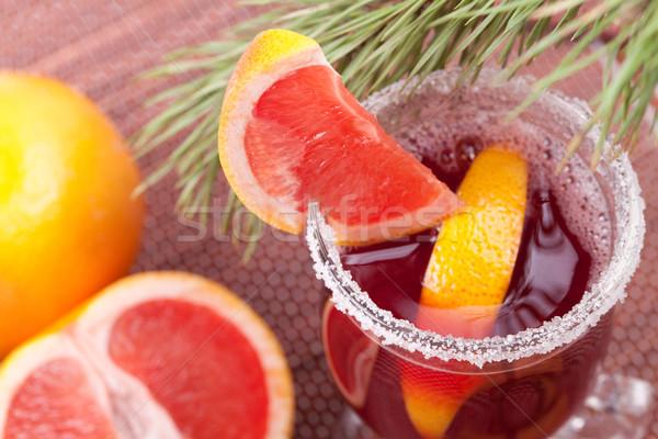 Grapefruit Mulled Wine (Punch) Stock photo © karandaev
