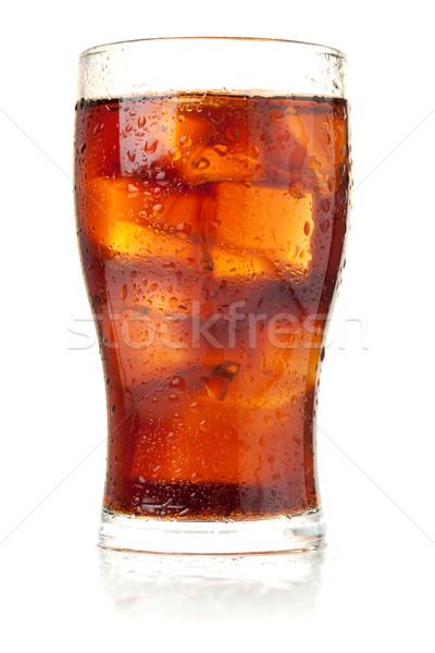 Glass of cola with ice Stock photo © karandaev