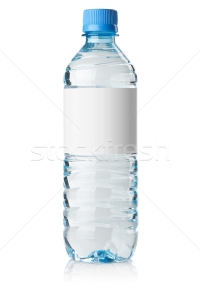 Soda water bottle with blank label Stock photo © karandaev