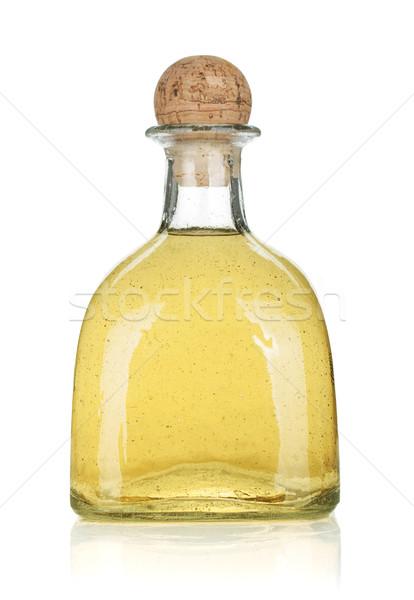 Botella oro tequila aislado blanco vidrio Foto stock © karandaev