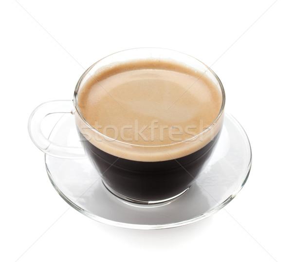 Espresso kahve cam fincan yalıtılmış beyaz Stok fotoğraf © karandaev