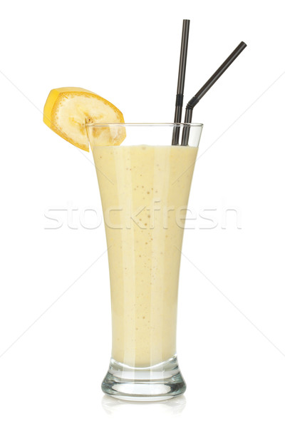 Banana milk smoothie Stock photo © karandaev