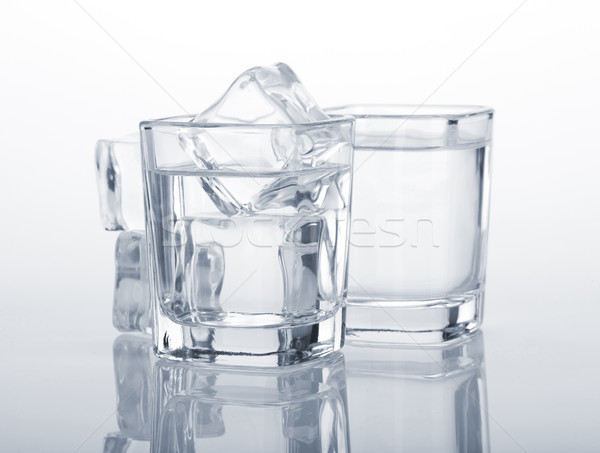Wódki niebieski strony szkła tle Zdjęcia stock © karandaev