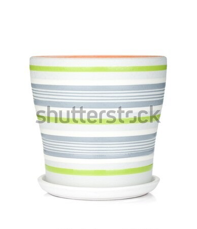 Conjunto colorido isolado branco café fundo Foto stock © karandaev