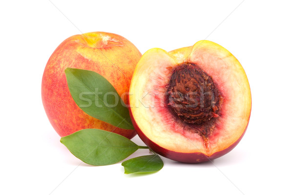Fresh peaches Stock photo © karandaev