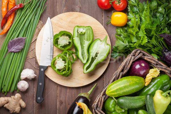 新鮮な 農民 庭園 野菜 ハーブ 料理 ストックフォト © karandaev