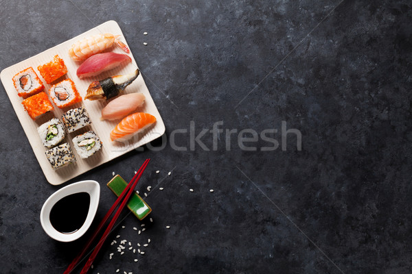 Set of sushi and maki Stock photo © karandaev