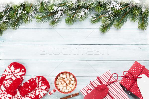 クリスマス 贈り物 ホットチョコレート ギフトボックス マシュマロ ストックフォト © karandaev