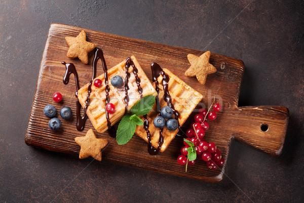 Ягоды Top мнение продовольствие шоколадом Сток-фото © karandaev